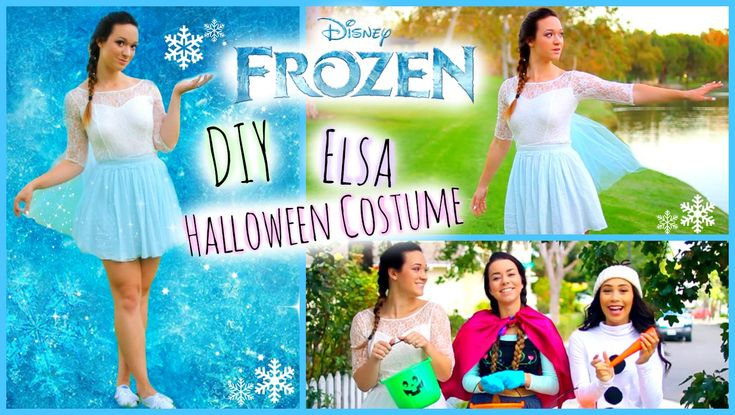 @kirahoverman DIY Frozen Elsa Halloween Costume ♡ Easy and Affordable!