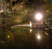 What's down there? Guests board glass bottom boats to tour the Lost Sea, a 4½-acre pool of water about 300 feet below the cave entrance. Located off Interstate 75 between Chattanooga and Knoxville. Take Exit 60 on State Highway 68 and follow the signs for six miles east.