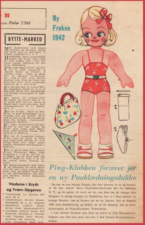 Ingrids Påklædningsdukker: Ny frk 1942 - 1942 - 26