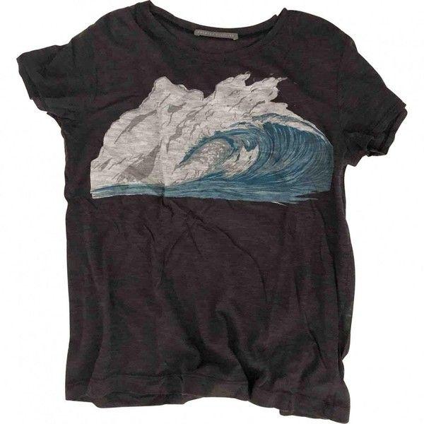 Silk t-shirt PROENZA SCHOULER (2.338.635 VND) ❤ liked on Polyvore featuring tops, t-shirts, proenza schouler, purple tee, proenza schouler top, silk top and purple top