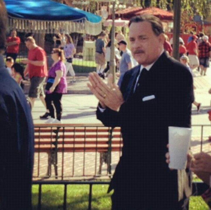 Tom Hanks playing Walt Disney in the upcoming movie Saving Mr Banks. A story of Walt's acquisition for the Mary Poppins story.