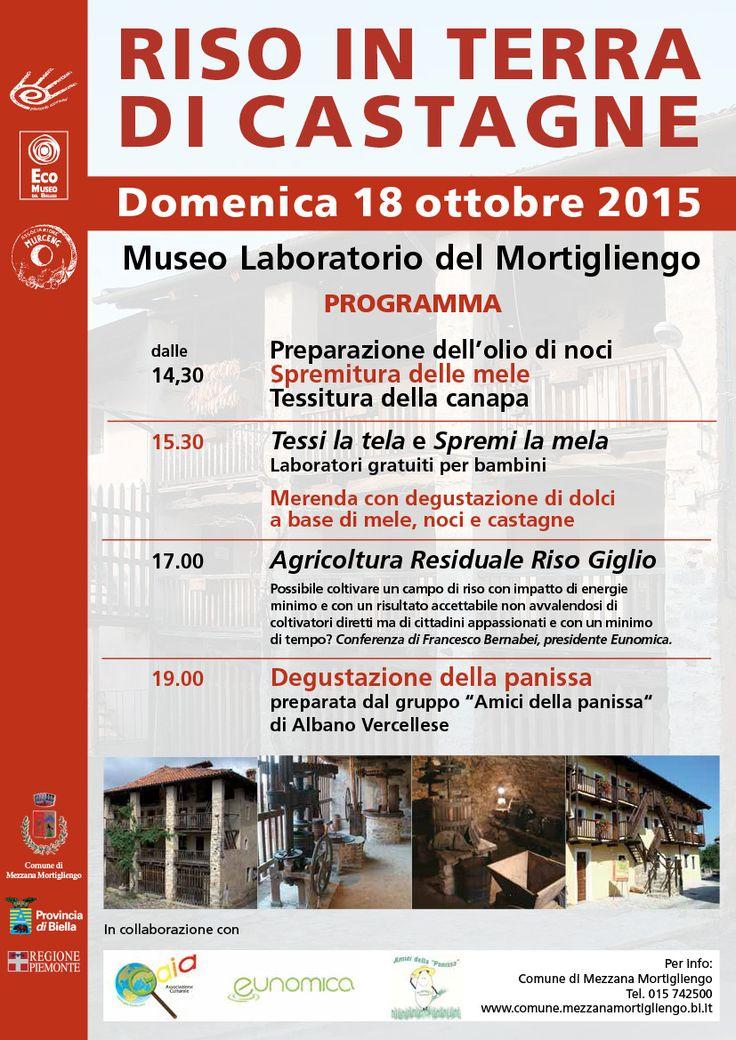 Domenica 18 ottobre al Museo del Mortigliengo non mancate!