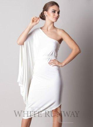 ivory cocktail dress, pia gladys perey, white bridesmaid dress