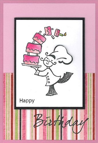 Stamp-it Australia: 4020E Chef Oops!, 4080D Birthday - Card by Susan