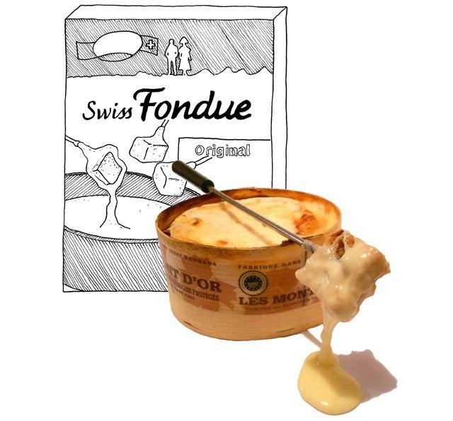 Kaasfondue: waarom moeilijk doen als het makkelijk kan? En daar komt géén zakje aan te pas! Wel een doosje Mont d'Or.