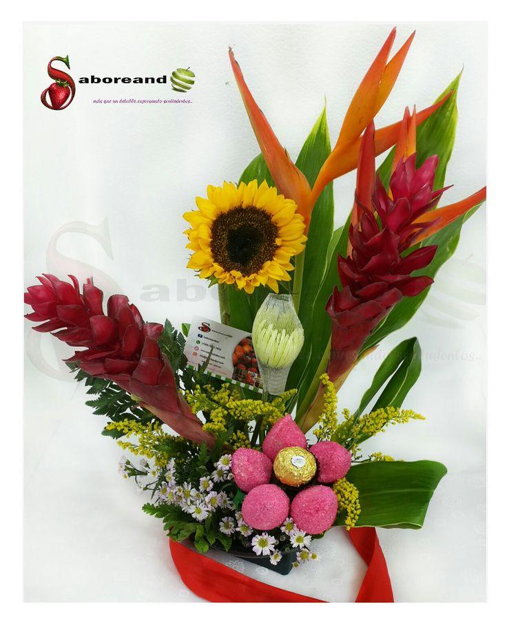 Arreglo tropical. www.arreglosfrutales-cr.com facebook.com/saboreandocr (+506) 8991-7653  arreglos frutales costa rica, rosas, flores, chocolates, fresas