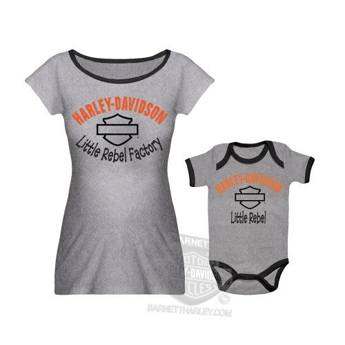 "Harley-Davidson Baby Mommy & Me ""Little Rebel Factory"" Grey Maternity Set Harley-Davidson (Womens),http://www.amazon.com/dp/B00HGI4K4G/ref=cm_sw_r_pi_dp_0mj0sb1P1VXY7SRG"
