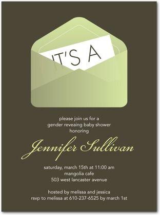 .: Showers, Shower Ideas, Baby Shower Invitations, Gender Reveal, Invitation Envelopes, Reveal Idea, Reveal Shower, Reveal Party, Baby Shower