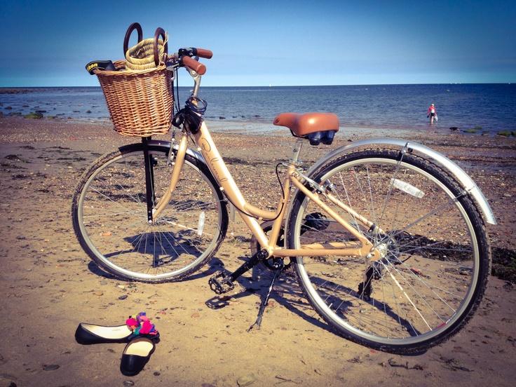Beach side bike ride