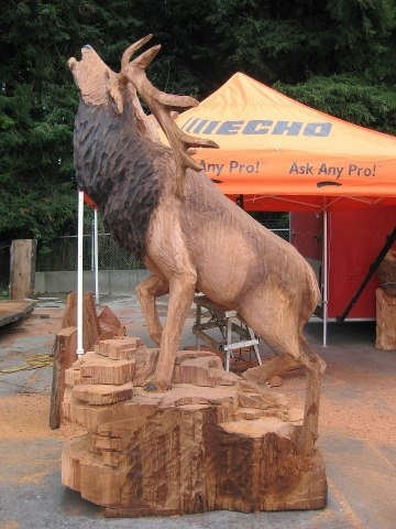 Echo Chain Saw Carving Team. Get the tools they used from Foreman's General Store!