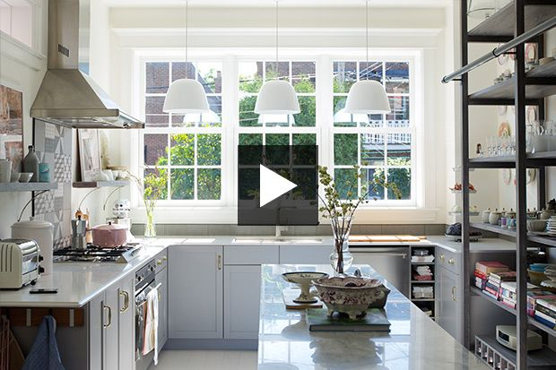 Tour the bright and inviting space. Discover Lauzon Flooring Bianco perfect white hard maple hardwood floor in this House and Home video. #interiordesign #homedecor #hardwoodfloor #artfromnature