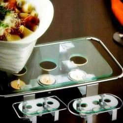 Contemporary Design 3-candle Chafing Dish Food Warmer Plate