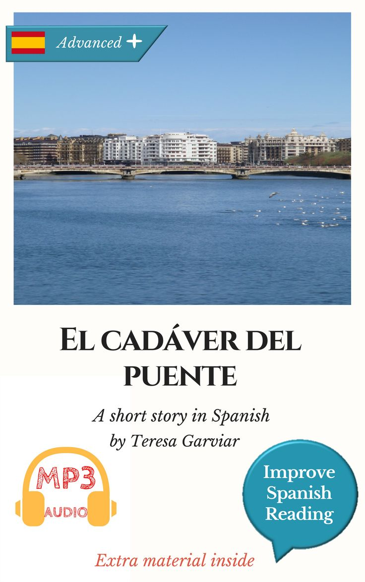 Un hombre es encontrado ahorcado en el puente del río Urumea. La policía investiga las claves de lo que parece ser el suicidio de un empresario abrumado por las deudas y su situación personal.  You'll find in each book:  An interesting story divided into chapters for a better understanding. Summaries of each chapter in Spanish and English. Translated vocabulary. Typical Spanish expressions. Common phrases. Lexicon and grammar summaries. Reading Comprehension Exercises. Audio included.
