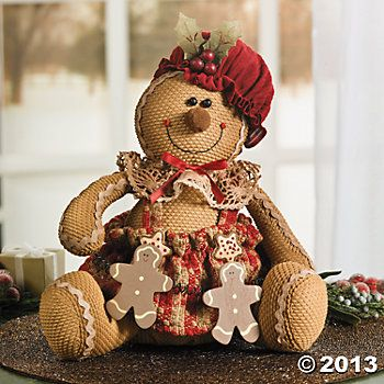 Plush Sitting Gingerbread Doll