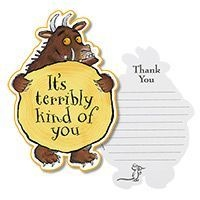 Gruffalo Thank You Cards and other Gruffalo party supplies