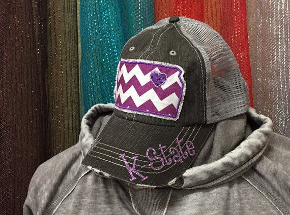 Kansas State University Wildcats Baseball Bling Ladies Womens Trucker Hat K-State by  Chasing Elly on Etsy