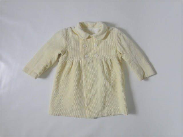 Girls coat/ Vintage baby coat/ vintage clothing/ 1980s / girls clothing/ vintage girls coat/ yellow coat for girls by VintBlueBird on Etsy