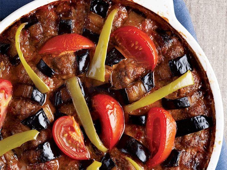 Köfteli patlıcan dizme Tarifi - Türk Mutfağı Yemekleri - Yemek Tarifleri