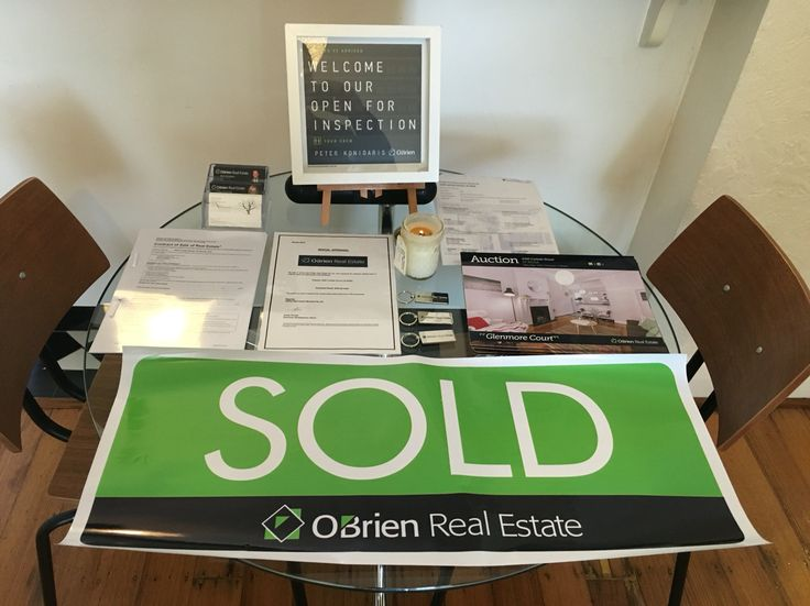 Great open home display O'brien real estate. #realestate #open homes
