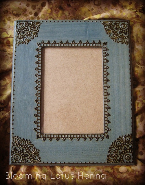 Indigo Mandala Corners Henna Picture Frame, via Flickr.