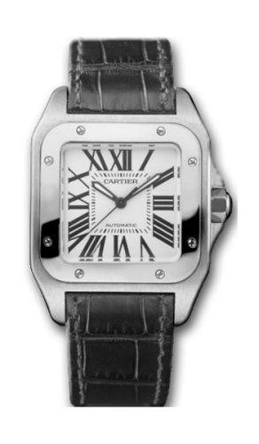Cartier Midsize W20106X8 Santos 100 Automatic Leather Watch Reviews 2013