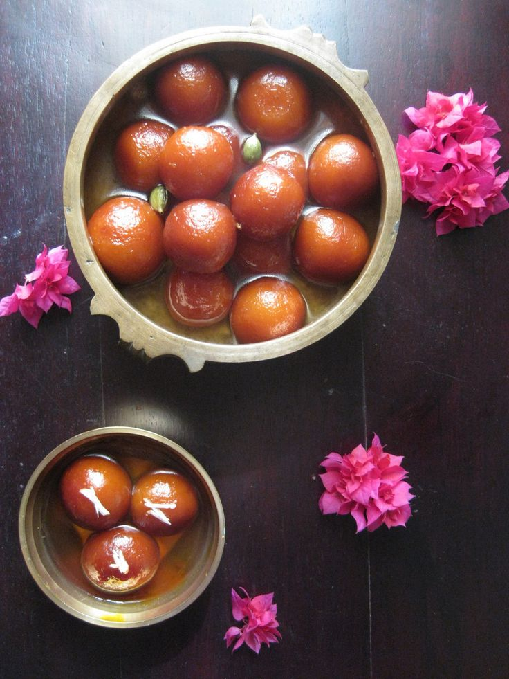 Gulab Jamun - originates from an Arabic Dessert - Luqmat-Al-Qadi that became popular in the royal kitchen and was brought to the Indian subcontinent by the Mughal's during the 16 century!