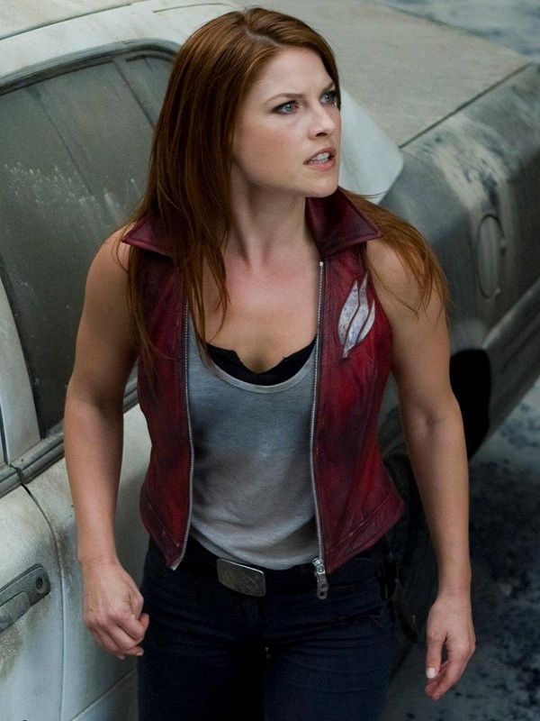 Resident Evil Ali Larter Vest Fashion Women Leather Vest Ali