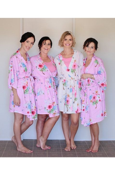 unique bridesmaid gift ideas white kimono gift ideas by ForBride