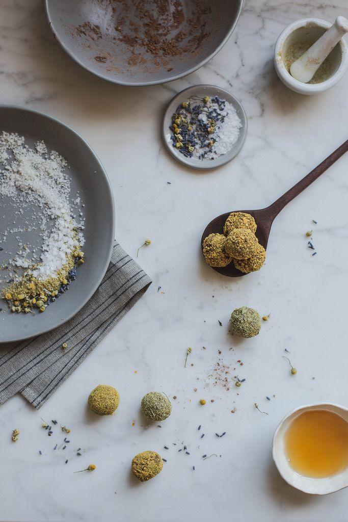 Local Milk | raw vegan chocolate truffles: chamomile + lavender + bee pollen