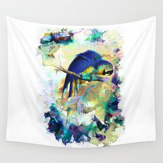 Parrot Bird - WALL TAPESTRY
