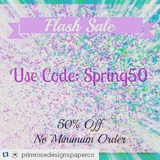 Primrose Designs is having a 50% off Flash Sale!  #Repost @primrosedesignspaperco with @repostapp  Been a snowy couple of days in Canada and since im in the office and the sun is shining.. FLASH SALE!! No given end time at this moment! 50% off any order! #planner #planneraddict #plannerstickers #stickerhaul #wee#weloveec #erincondrenlifeplanner #lifeplanner #canadianplannergirls #canadianetsyshop #etsysale #springsale #halfpricestickers #kikkik #filofax #plumplanner #ec #stickers…