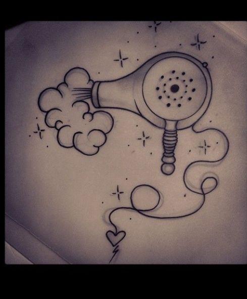Une idée pour mon futur tatouage moi qui ne peut pas vivre sans mon sèche-cheveux ...