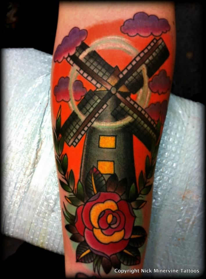 best 25 windmill tattoo ideas on pinterest gorillaz art dutch tattoo and gorillaz. Black Bedroom Furniture Sets. Home Design Ideas