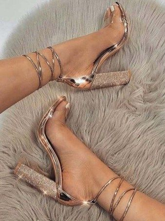 Elegant High Heels Strap Lace Woman Sandals, FS114