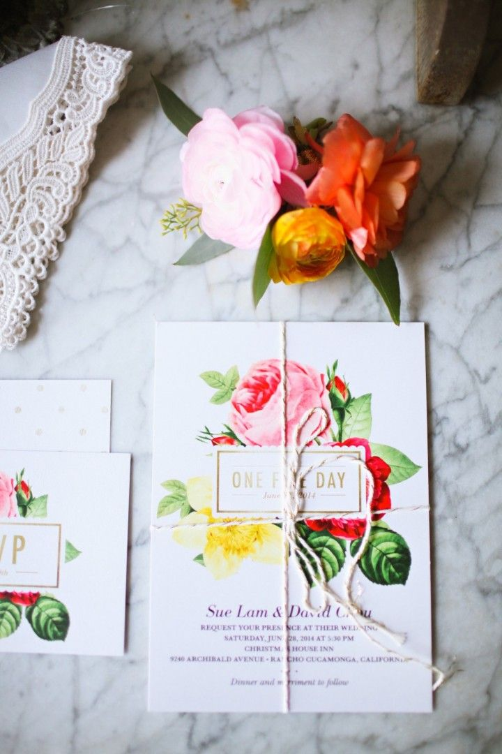 Colorful California Wedding from Adrienne Gunde Photography - wedding invitation