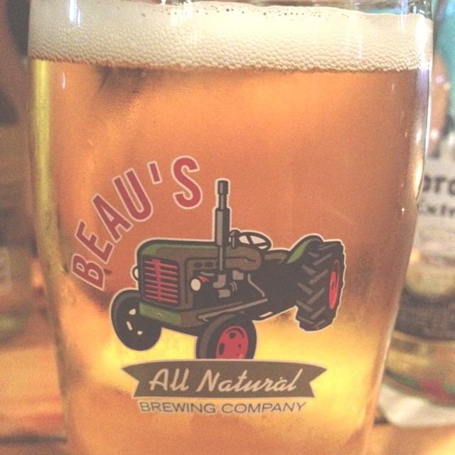 Beau's All Natural Lug Tread Lager. So good! At Prohibition Gastropub.