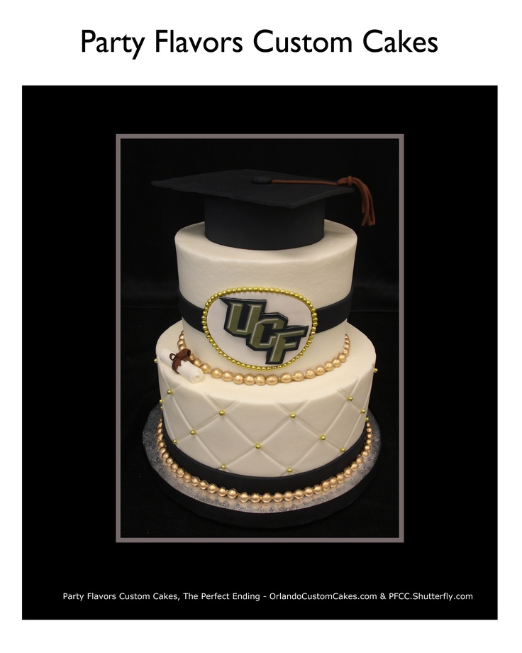 UCF Graduation Cake in Buttercream- We LOVE our UCF grads! Cake by @Orlando Cake Guy @ Party Flavors Custom Cakes