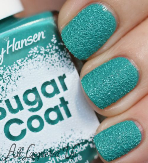 Sally Hansen Spare A Mint Sugar Coat nail polish swatch NEW Sally Hansen Sugar Coat Shades   Swatches & Review