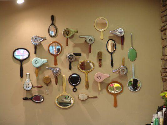 Vintage Blowdryer & Hand Mirror Collage....