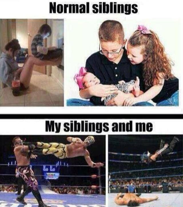 Laughing so hard lol! My siblings and I are mostly the first, but when we get angry it's definitely the second