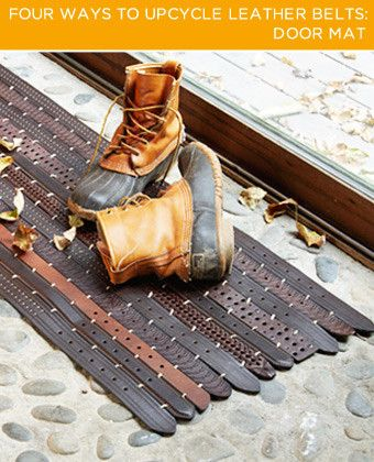 Got Old Belts? Ck out these FAB ideas from BrightNest! The door mat is just 1 idea, they have a LOT more groovy ones!