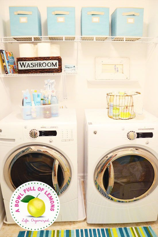 Laundry room chaos getting you down? Look no further for great tips, resources and ideas to make doing laundry more fun! Via A Bowl Full of Lemons
