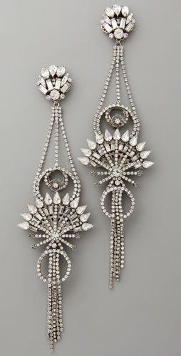 Deco Dangles: Beamon Diamonds, Diamonds Earrings, Pendants Earrings, Erickson Beamon, Beamon China, Art Deco, Diamonds Pendants, Club Earrings, China Club