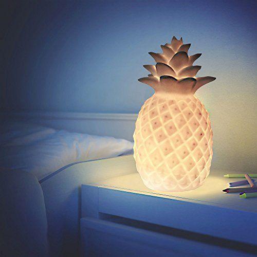 Lampe Veilleuse LED humeur Ananas–Lumière blanche chaude–Hauteur 18cm: Matière : Plastique Couleur: Blanc Dimensions : x x x Hauteur :…