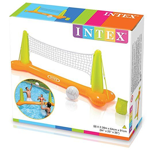 "Amazon.com: Intex Pool Volleyball Game, 94"" X 25"" X 36"", for Ages 6+: Toys & Games"