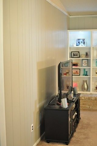 diy painted paneling - hearty-home.com