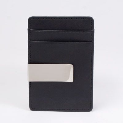 I really like this leather credit card case & money clip. only $25, but it's out of stock.