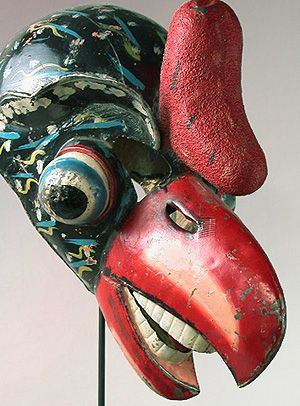 Condor mask, Carnival, Oruro, Bolivia  15.5 inches, painted metal