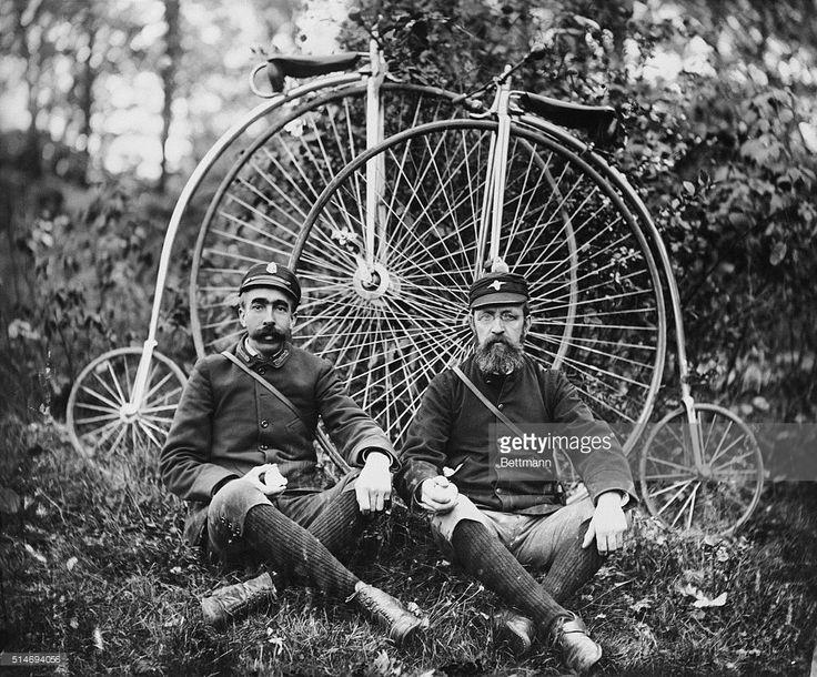 American wheelmen reposing in the woods. Photograph, ca. 1890 ...