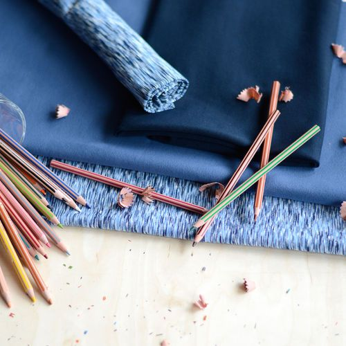 Joustocollege, Fantasia sininen| NOSH Fabrics Pre Autumn Collection 2016 is now available at en.nosh.fi | NOSH syksyn ennakkomalliston 2016 kankaat ovat nyt saatavilla nosh.fi